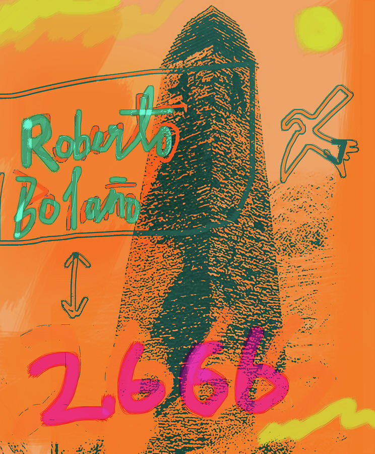 2666 Roberto Bolano Poster is a mixed media by Paul Sutcliffe which was uploaded on June 12th, 2018.